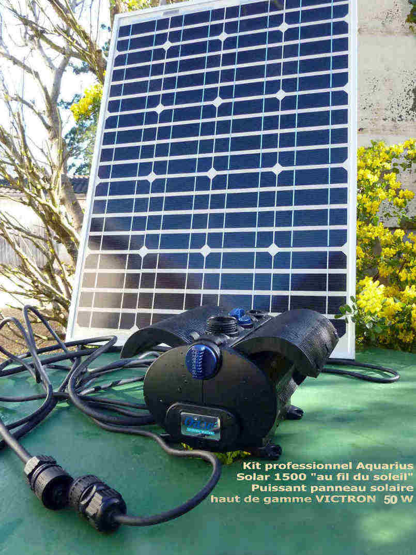 Solaire bassin presente son nouveau kit de pompe solaire professionnel pour petit bassin de jardin - Pompe de bassin solaire ...