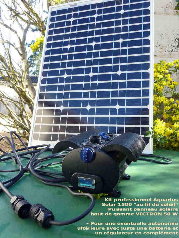 La premiere reference en pompe solaire professionnelle for Panneau solaire pour pompe piscine